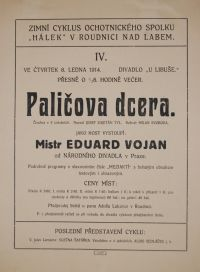 Josef Kajetán Tyl: Paličova dcera (režie Milan Svoboda, 1914)